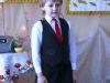 Jaunasis dainininkas Danielius Kasparas visai drąsiai dainavo apie didelį begemotą.