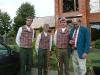 """Iš kairės į dešinę: Arnoldas Jastremskas, Aivaras Jurkevičius, Jonas Purvaneckas ir \""""Taiga-Euro-Baltika\"""" turizmo agentūros generalinis direktorius Patrikas Lion\'as."""