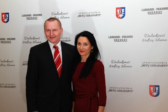 Seimo narys Petras Čimbaras su žmona Jolita.
