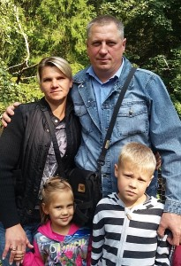 Vaiva Repečkienė su šeima.