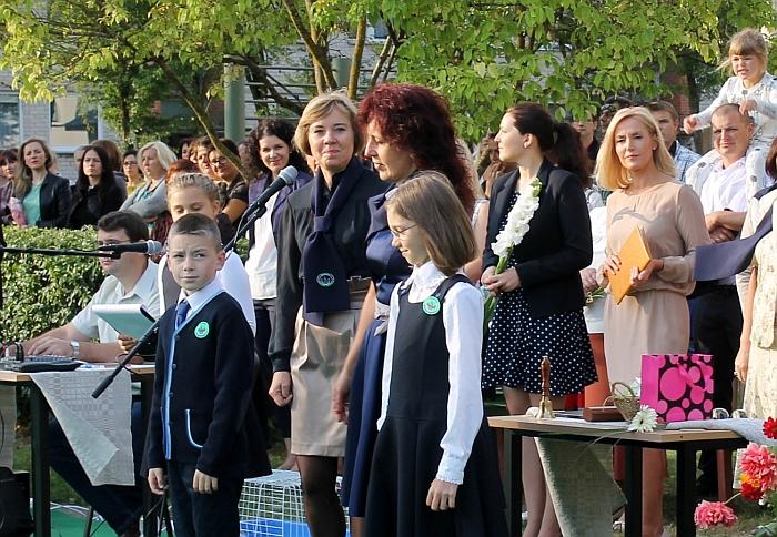 Rugsėjo 1-osios renginyje Širvintų pradinėje mokykloje dalyvavo ir rajono merė Živilė Pinskuvienė