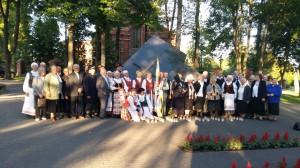 Juodojo birželio atminimo akcija prie Didžiosios kovos apygardos partizanų paminklo.
