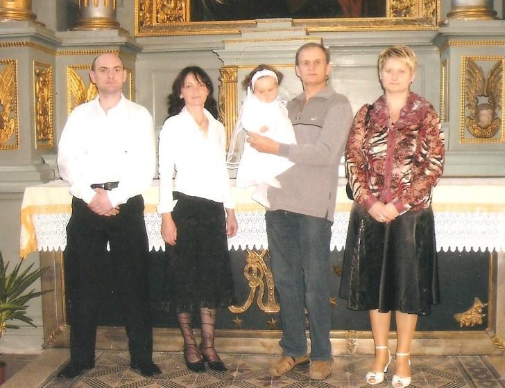 Anūkės Gabijos krikštynos.