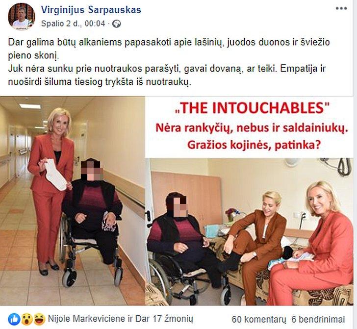 Virginijus Sarpauskas dviprasmiškai atsiliepė apie neįgalumą.