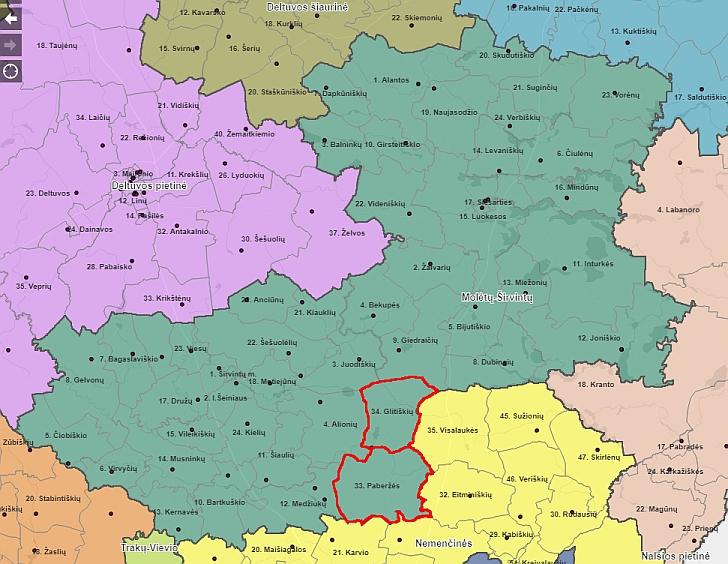 Seimo rinkimai 2020: Molėtų-Širvintų rinkimų apygarda padidės dviem rinkimų apylinkėm.