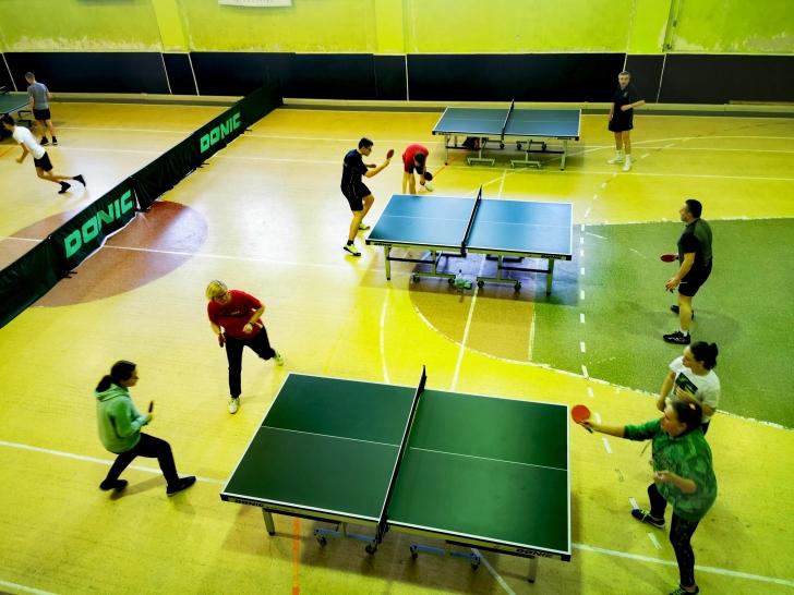 Vyksta Širvintų stalo teniso pirmenybės.