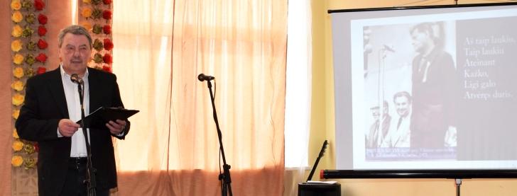 Čiobiškio kultūros diena ilgam įstrigs lyriškais P. Širvio posmais, kuriuos skaitė A. Piškinas.