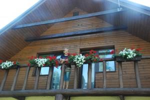 Aukštai virš komisijos narių galvų - gėlės ir jų šeimininkė Irena Bekionienė.