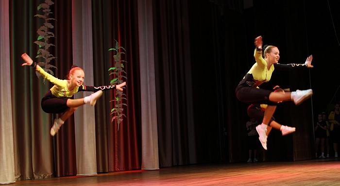 Pasirodymais džiugino VMSC aerobinės gimnastikos sportininkai...