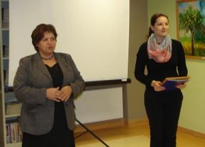 Sveikinimo ir padėkos kalbas pasakė Širvintų rajono vicemerė Irena Vasiliauskienė (kairėje) ir merės padėjėja Janina Greiciūnaitė.