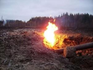 Kai degė gamtinių dujų trasa Graužių miške, toje vietovėje buvo paskelbta ekstremali situacija.