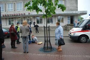 Ketvirtadienio rytą I. Šeiniaus gatvėje automobiliu buvo partrenkta moteris.