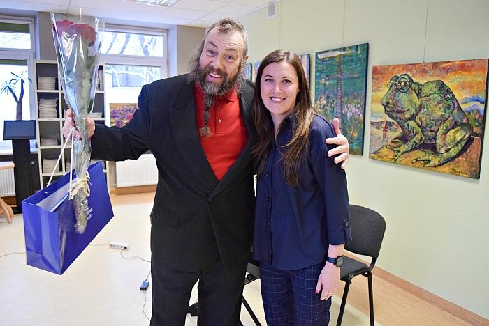 Sveikinimo žodį sakė Širvintų kultūros centro direktorė Rytė B. Nuoširdi nuotrauka atminimui.areckaitė