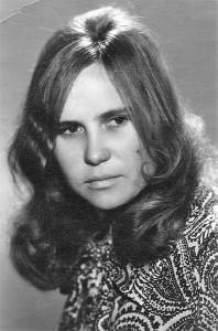 Vilniaus universiteto studentė Aldona Budraitė-Barkauskienė. 1969 m.