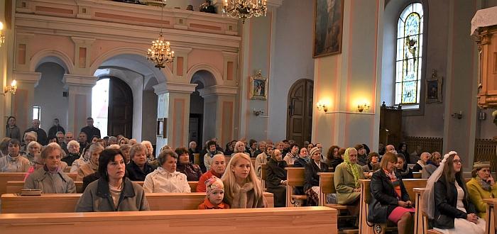 Koncerto bažnyčioje akimirka