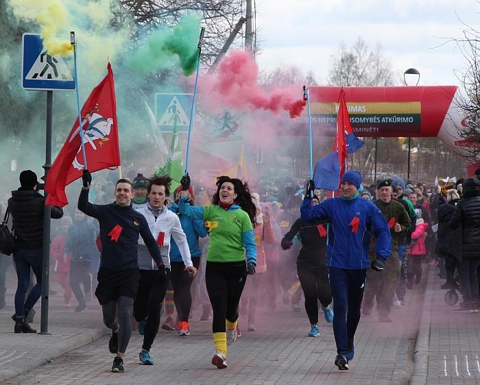 Įvyko trečiasis tradicinis bėgimas Širvintose.