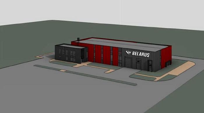 """Taip turėtų atrodyti šalia magistralės Vilnius-Panevėžys ketinama statyti traktorių """"Belarus"""" gamybos įmonė."""