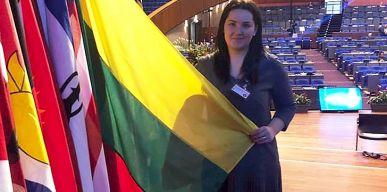 Janina Pažusienė – konferencijoje Hagoje