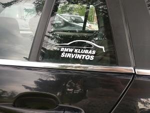 Į BMW klubą susibūrusius širvintiškius išduoda emblema ant automobilio...