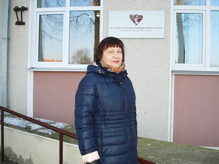 SODROS Vilniaus skyriaus Įmokų išieškojimo skyriaus vedėjo pavaduotoja Liudmila Braškienė.