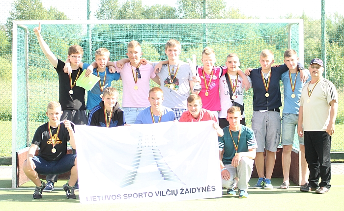 Širvintų riedulininkai - Lietuvos sporto vilčių žaidynių čempionai.