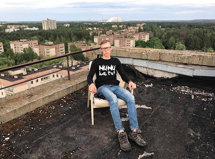 """Keliautojas Laurynas Lebenko: """"Labai klaidinga manyti, kad Černobylis ir Pripetė yra miestai vaiduokliai. Ten pakankamai gyvybės ir veiksmo."""""""