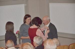 Šventės metu buvo pagerbtas choro vadovas Aloyzas Juška.