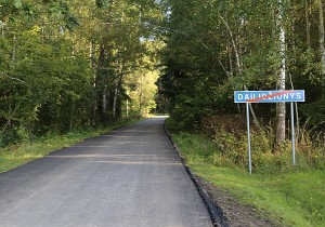 Išasfaltuotas kelias į Dailidžionis