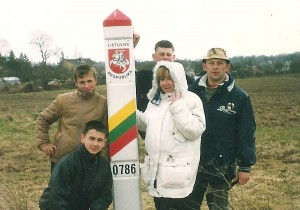 Latvijos pasienyje su Zibalų mokyklos skautais.