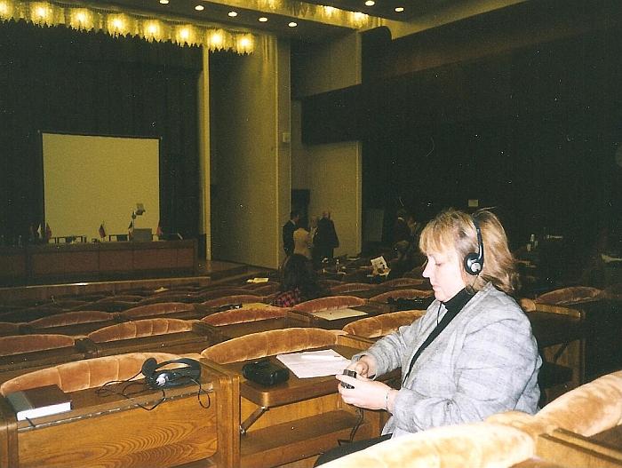 Mokytoja Vytautė Kvainickienė LR Seime.