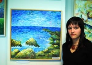 Širvintų Lauryno Stuokos - Gucevičiaus gimnazijoje atidaryta ketvirtoji personalinė  Erikos Lipeikytės tapybos darbų paroda.
