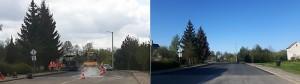 Nauja asfalto danga P. Cvirkos gatvės atkarpoje...