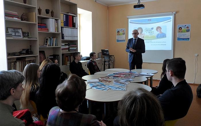 Gintaro Morkio viešnagė Gelvonų gimnazijoje
