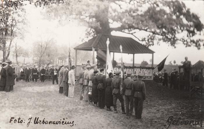 Gelvonai - 1936 m. rugsėjo 8 d. Iškilmingas posėdis Gelvonų Dariaus - Girėno sporto stadione.