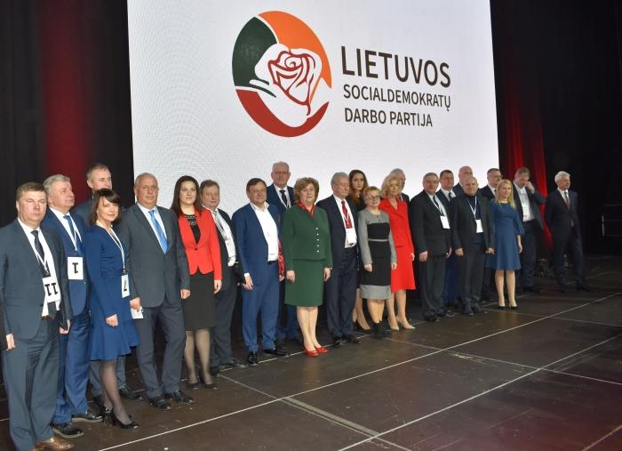 Sveikinimas išrinktiems LSDDP tarybos nariams, tarp kurių ir buvęs Susisiekimo ministras Rimantas Sinkevičius, Sigitas Bankauskas, daug kitų žinomų žmonių.