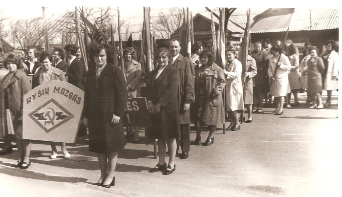 Širvintų pašto - Ryšių mazgo - darbuotojai demonstracijoje.