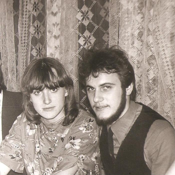 Alvyda ir Artūras Krapai - Buivydiškių žemės ūkio technikumo studentai. 1983 m.