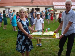 Nulėpausio gimtadienio tortas, kurį padovanojo verslininkė Nijolė Didžiokienė.