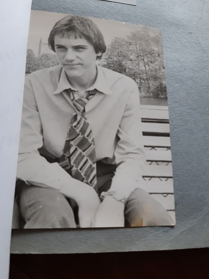 Keturiolikmetis Artūras Krapas Trakuose. 1978 m.