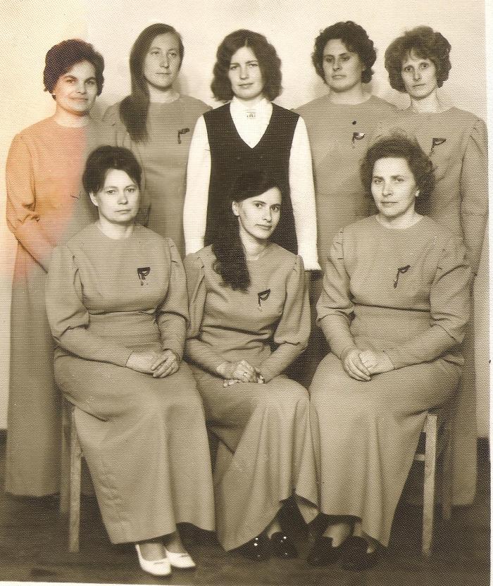 Širvintų pašte buvo suburtas vokalinis ansamblis, kuriam vadovavo Rožė Polonskienė.