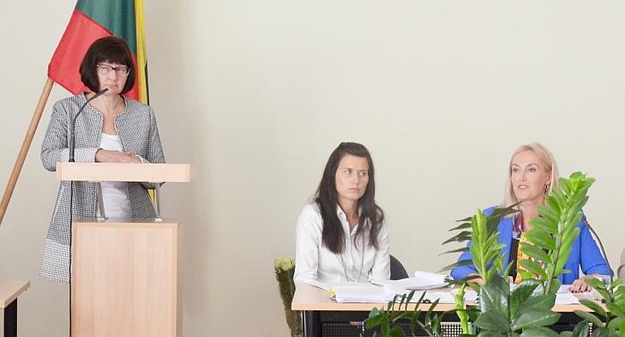 Tribūnoje - Tarybai prisistato Danguolė Kalesnikienė