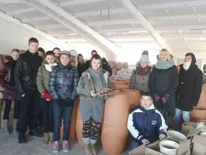 Kitas kelionės tikslas - keramikos gamykla Alionyse.