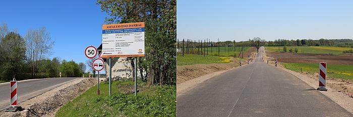 Jau baigtas afsaltuoti žvyrkelių programos kelias Nr. 4311 Šešuolėliai II - Kiaukliai (atkarpos nuo 0,016 iki 2,200 km, nuo 2,200 iki 4,900 km, nuo 5,500 iki 6,880 km).