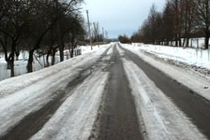 Daugelyje vietų kelias jau provėžuotas, tačiau prieš porą dienų buvo tikra čiuožykla.
