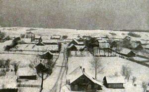Kernavės vaizdas iš naujosios bažnyčios bokšto. Ketvirtojo dešimtmečio vidurys (miestai.net)