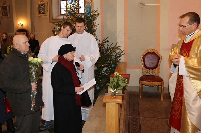 Širvintų krašto garbės pilietė J. Martinaitienė su vyru Albertu