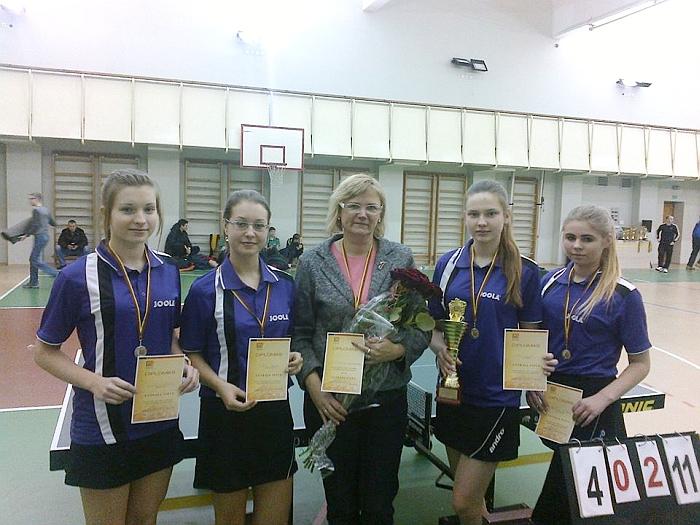 Širvintų komanda - Lietuvos jaunučių stalo teniso komandinių pirmenybių vicečempionės.