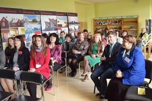 """Viešosios bibliotekos skaitykloje vyko konferencija """"2015-ieji - Europos metai vystymuisi""""."""