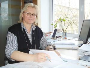 """Savivaldybės Architektūros ir teritorijų planavimo skyriaus vedėja Dalia Kunevičienė: """"Žmonės, patys tapę savo kiemo šeimininkais, susitvarkys juos pagal savo poreikius."""""""