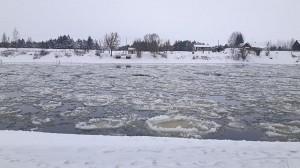Taip atrodė šiais metais Neries upė ties Čiobiškiu didžiausių šalčių metu.